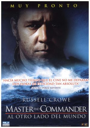 Spanish dvd cover for Master and Commander: The Far Side of the World