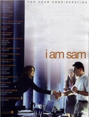 I Am Sam For your consideration poster