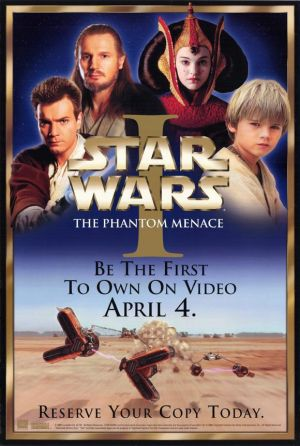 Star Wars: Episode I - The Phantom Menace Video release poster