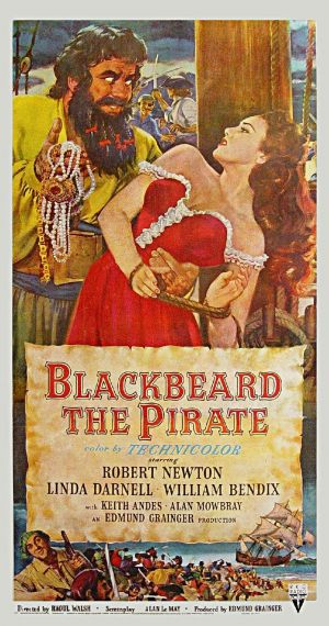 Blackbeard, the Pirate Poster