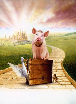 Schweinchen Babe in der großen Stadt 2072x2834