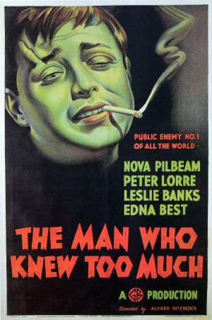 The Man Who Knew Too Much Theatrical poster