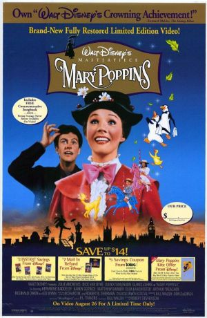 Mary Poppins Video release poster