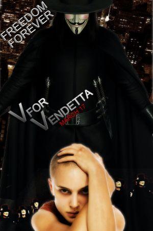 US poster for V For Vendetta