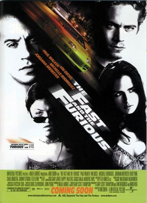 The Fast and the Furious 2341x3229