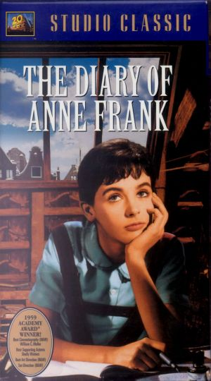 The Diary of Anne Frank Vhs cover
