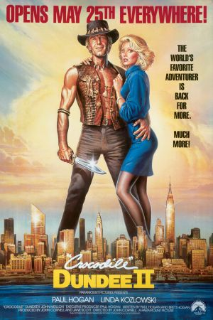 Crocodile Dundee II Advance poster