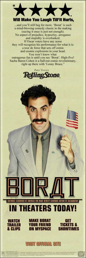 Borat: Cultural Learnings of America for Make Benefit Glorious Nation of Kazakhstan 500x1500