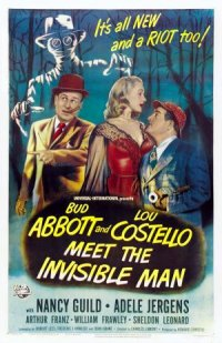 Bud Abbott Lou Costello Meet the Invisible Man poster