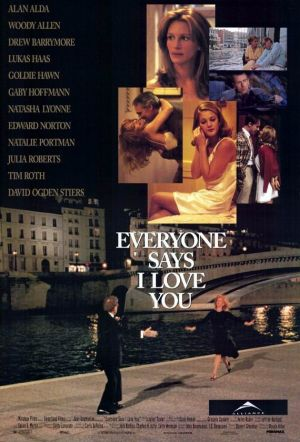 Everyone Says I Love You poster. Copyright by respective production studio