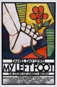 Mein linker Fuß poster