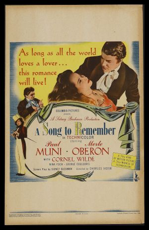 A Song to Remember Poster