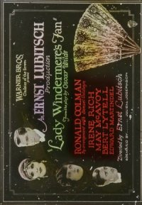 Lady Windermere's Fan poster