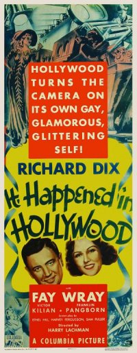 It Happened in Hollywood poster
