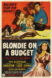 Blondie on a Budget poster