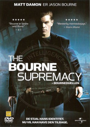 The Bourne Supremacy Dvd cover