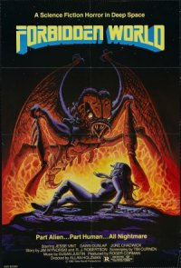 Forbidden World poster