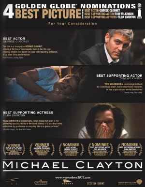 Michael Clayton For your consideration poster