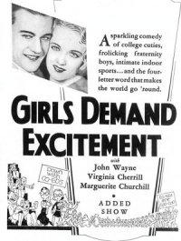 Girls Demand Excitement poster