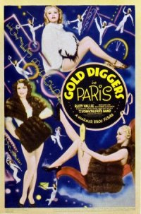 Gold Diggers in Paris poster