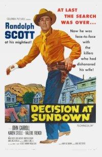 Decision at Sundown poster