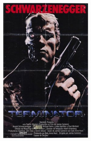The Terminator poster. Copyright by respective production studio and/or