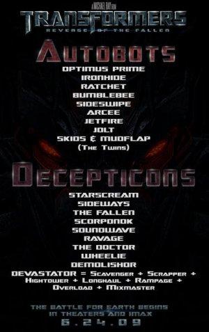 Transformers: Die Rache 413x656