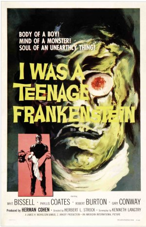 I Was a Teenage Frankenstein Poster