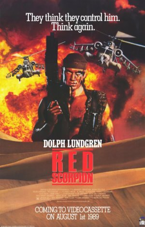 Red Scorpion Video release poster