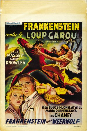 Frankenstein Meets the Wolf Man Poster