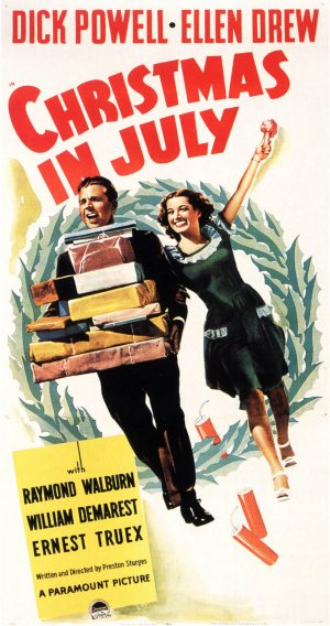 Christmas in July Theatrical poster