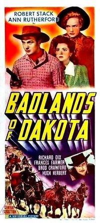 Badlands of Dakota poster