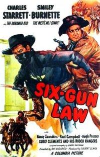 Six-Gun Law poster