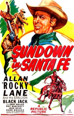 Sundown in Santa Fe Poster