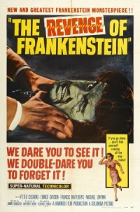 The Revenge of Frankenstein poster