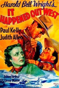 It Happened Out West poster