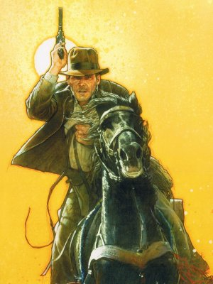 Indiana Jones and the Last Crusade Key art