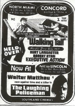 Walking Tall Newspaper ad