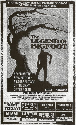 The Legend of Bigfoot Newspaper ad
