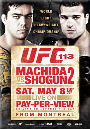 UFC 113: Machida vs. Shogun 2 Poster