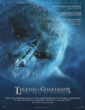 Legend of the Guardians: The Owls of Ga'Hoole For your consideration poster