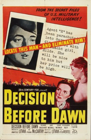 Decision Before Dawn Poster