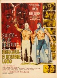 Santo und der blaue Dämon contra Dracula und Werwolf poster