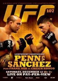 UFC 107: BJ Penn vs. Diego Sanchez poster