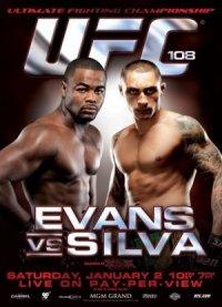 UFC 108: Evans vs. Silva poster