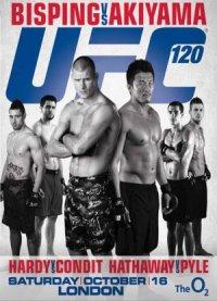 UFC 120: Bisping vs. Akiyama poster