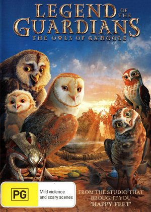 Legend of the Guardians: The Owls of Ga'Hoole Dvd cover