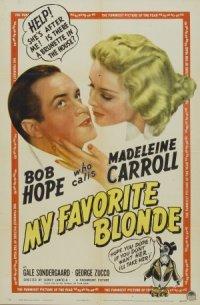 My Favorite Blonde poster