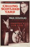 Calling Scotland Yard: Falstaff's Fur Coat Poster