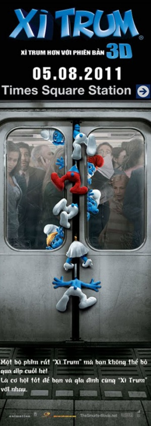The Smurfs 343x965